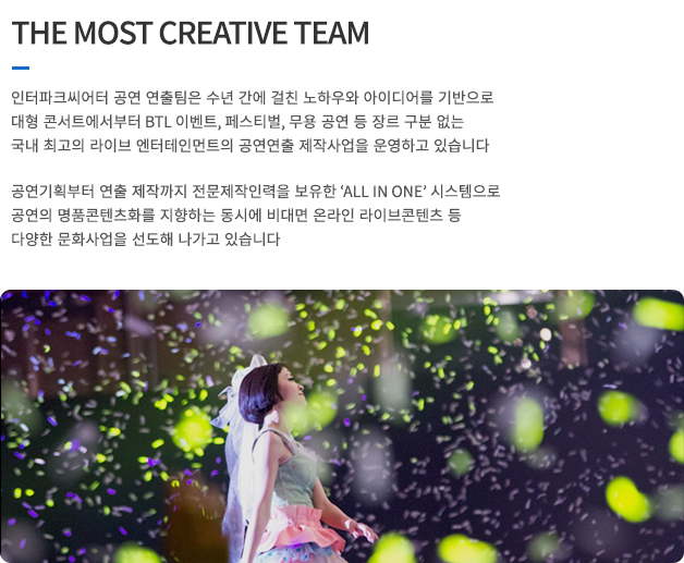 THE MOST CREATIVE TEAM